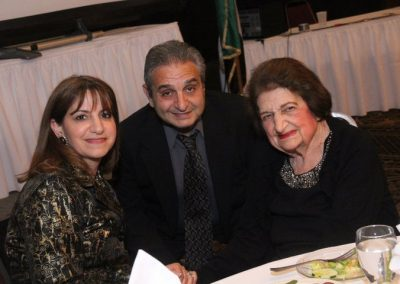 Siham, Ed and Helen Thomas