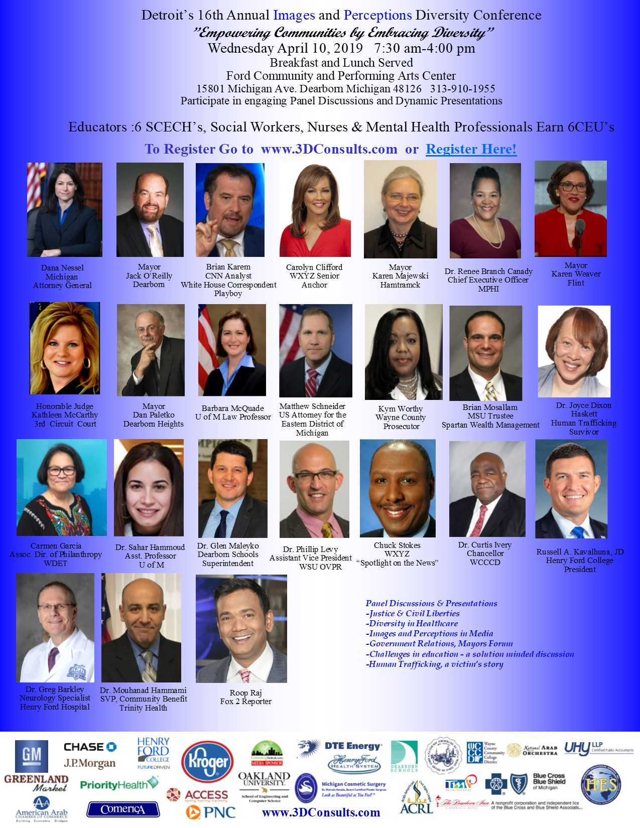 Conference Speaker Series Presenters 2019 | 3D Consults